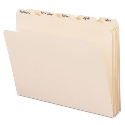 Indexed File Folders 15 Cut Indexed Jan-Dec Top Tab Letter Manila 12Set Sold as 1 Set