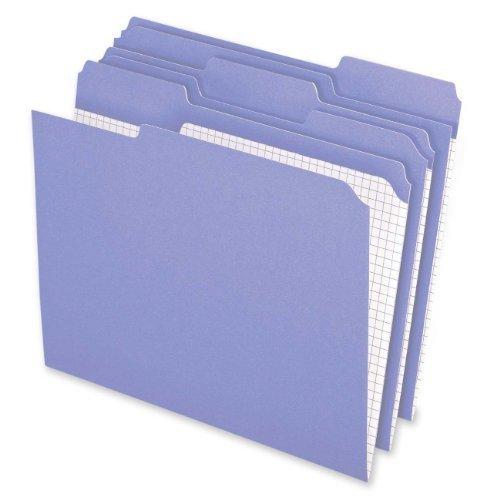 Pendaflex Color Reinforced Top File Folders 3 Tab Position Letter Size Lavender 100 Per Box R152 13 LAV by Pendaflex