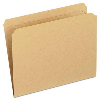 Two-Ply Dark Kraft File Folders Straight Cut Top Tab Letter Brown 100Box Sold as 100 Each