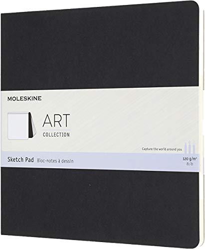 Moleskine Art Sketch Pad Soft Cover Square 75 x 75 PlainBlank Black 48 Pages