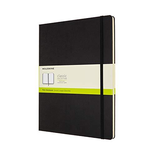 Moleskine Classic Notebook Hard Cover XXL 85 x 11 PlainBlank Black 192 Pages