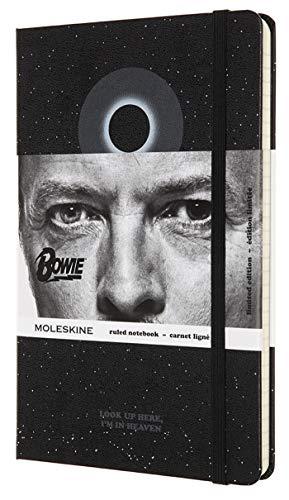 Moleskine Limited Edition David Bowie Notebook Hard Cover Large 5 x 825 RuledLined Black