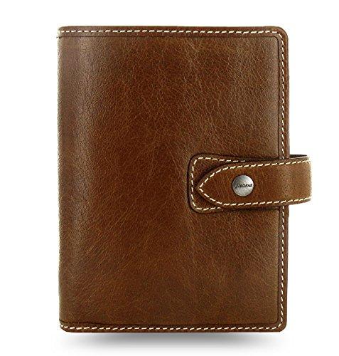 Filofax Leather Malden Ochre Pocket Organizer Agenda 2016  2017 Calendar Diary with DiLoro Jot Pad refill 025842