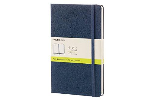 Moleskine Classic Notebook Large Plain Sapphire Blue Hard Cover 5 x 825