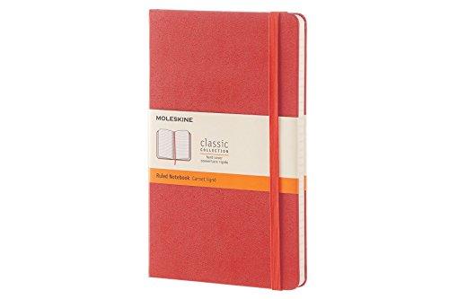 Moleskine Classic Notebook Large Ruled Coral Orange Hard Cover 5 x 825