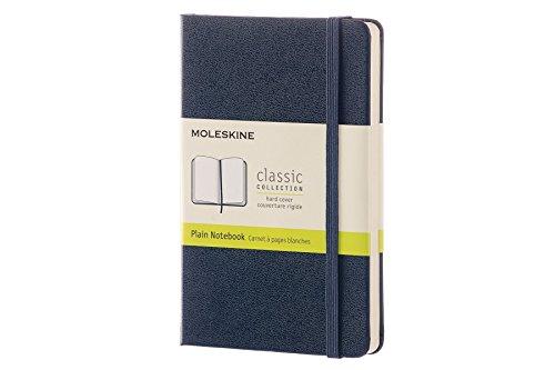 Moleskine Classic Notebook Pocket Plain Sapphire Blue Hard Cover 35 x 55