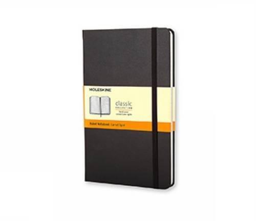 Moleskine Classic Notebook Pocket Ruled Black Hard Cover 35 x 55