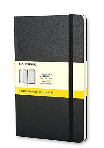 Moleskine Classic Notebook Pocket Squared Black Hard Cover 35 x 55 Classic Notebooks