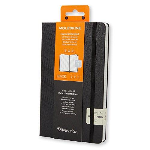 Moleskine notebook Live scribe  1 hard cover Large black SKQP060LIVESC1F