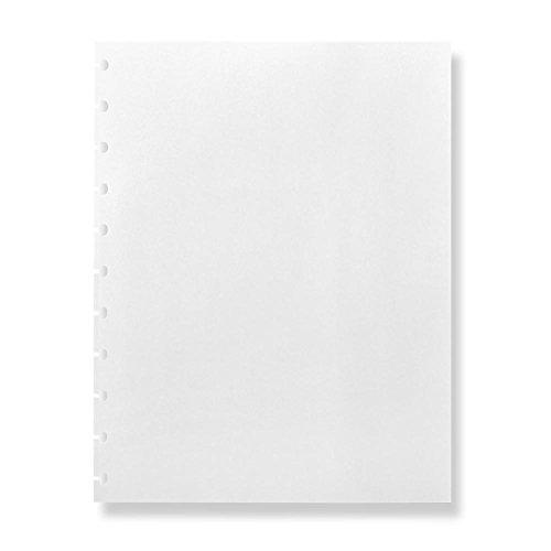 Levenger Circa Blank White Page Refills 100 sheets - Notebook Filler Paper Letter ADS9975 LTR