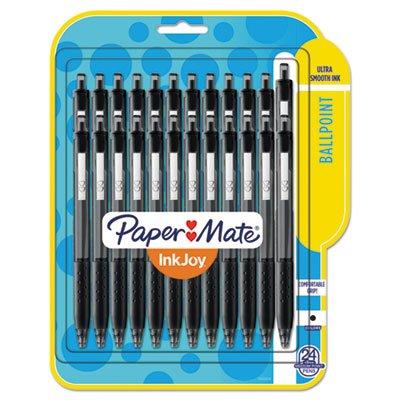 Paper Mate 1781569 InkJoy 300RT Ballpoint Pen 1mm Black Ink 24Pack