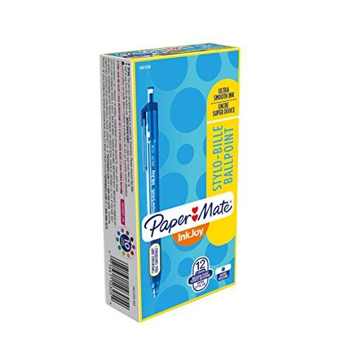 Paper Mate InkJoy 300RT Retractable Ballpoint Pens Medium Point Blue Box of 12 1951259