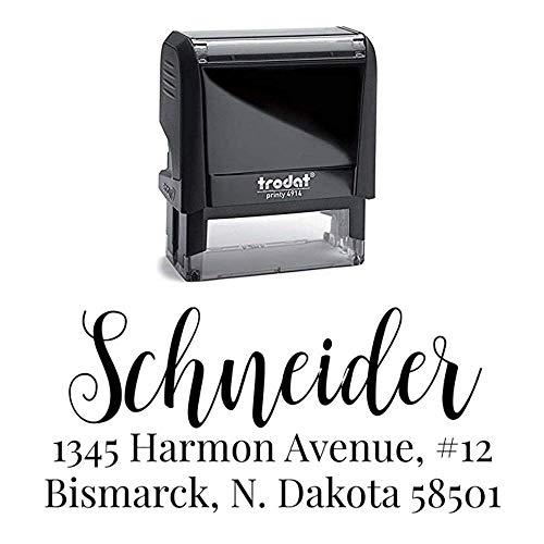 Custom Address Stamp  Return Address Stamp  Personalized Address Stamp  Self-Inking Stamp  Schneider Return Address Stamp