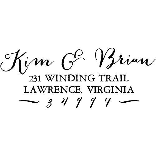 Kim Brian Custom Return Address Stamp Self-Inking Personalized Address Stamp