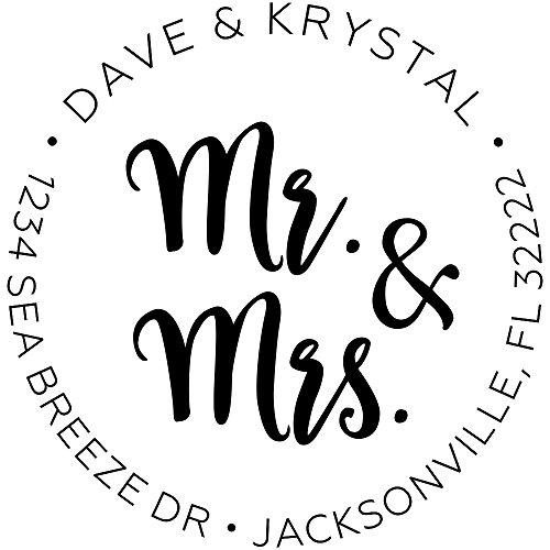 Personalized Mr and Mrs Wedding Return Address Stamps  Engagement Return Address Stamps  Personalized Wedding Invitation Stamps  Return Address Stamps