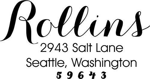 Rollins Self-Inking Address Stamp Personalized Address Stamp