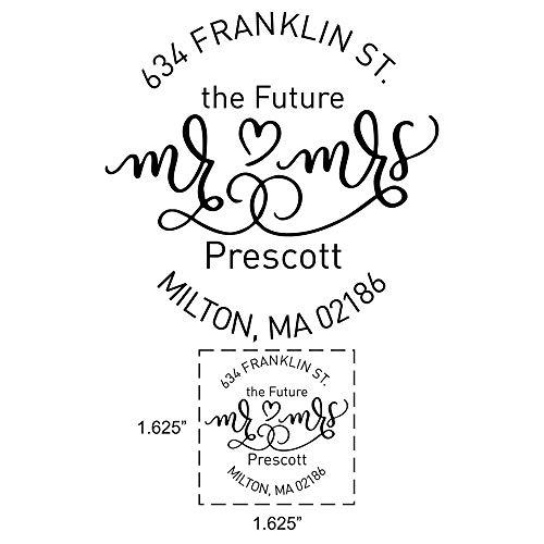 Custom Future Mr and Mrs Wedding Return Address Stamps  Engagement Return Address Stamp  Personalized Wedding Invitation Self Inking Stamp