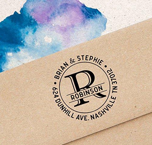 Printtoo Return Address Stamp Custom Monogram Self Inking Personalized Round Stamp
