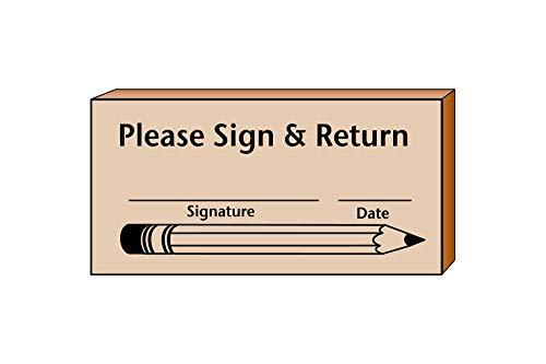 Sign Return Teachers Stamp
