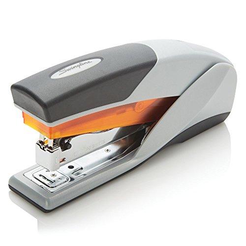 Swingline Stapler Optima 25 Reduced Effort Full Size 25 Sheets Capacity GrayOrange 66402A