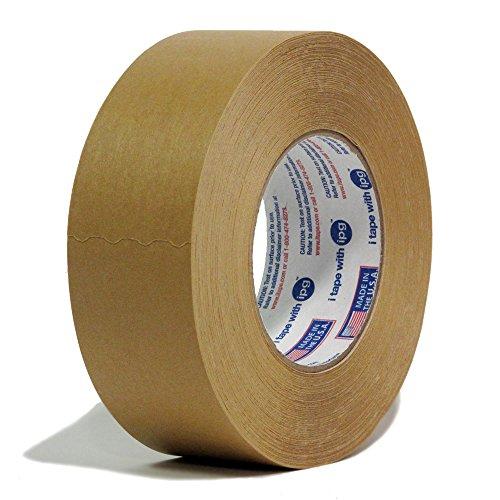 24 Rolls Intertape 539 - 2 Inch X 60 Yards - Industrial Moisture Resistant Flatback Paper Masking Tape - Brown Color - 24 Rolls per Case