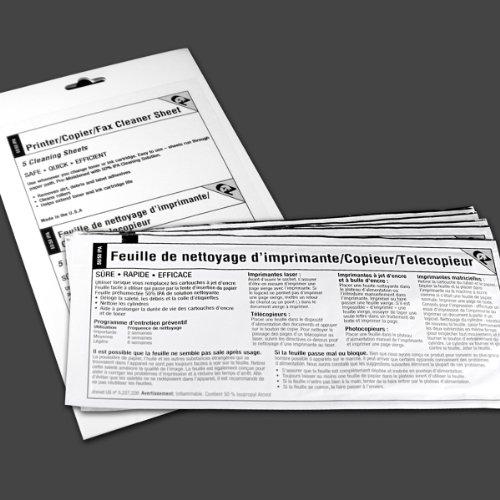 Waffletechnology 3K2-PCFF5 Three Pack EZ PrinterCopierFax Cleaner Sheet 15 sheets