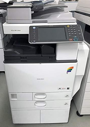 Ricoh Aficio MP C3002 Tabloid-Size Color Laser Multifunction Copier - 30 ppm Copy Print Scan Auto Duplex ARDF 2 Trays Stand