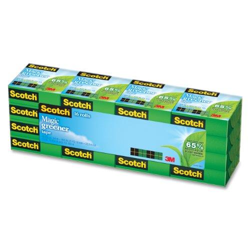 Scotch Magic Greener Tape 34 x 900 Inches Boxed 16 Rolls 812-16P