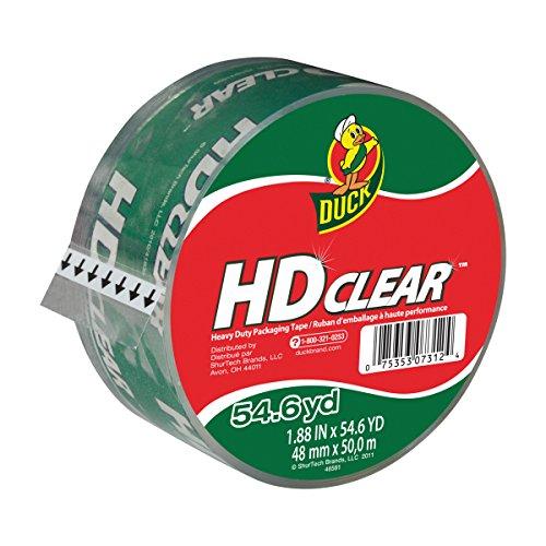 Duck HD Clear Heavy Duty Packing Tape Refill 188 Inch x 546 Yard 1 Roll 297438