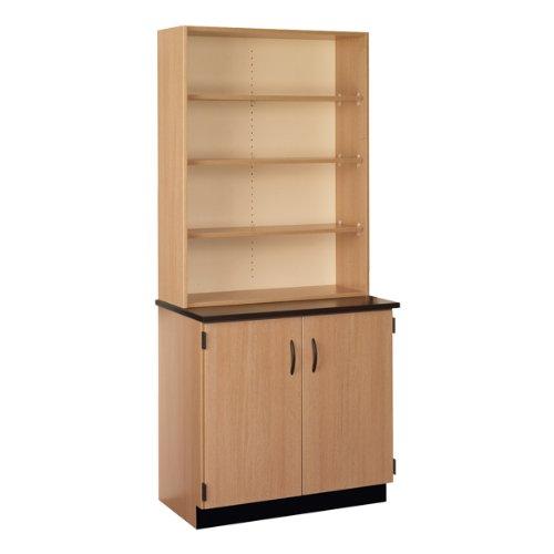 Science Hutch Lockable Cabinet w Open Shelves