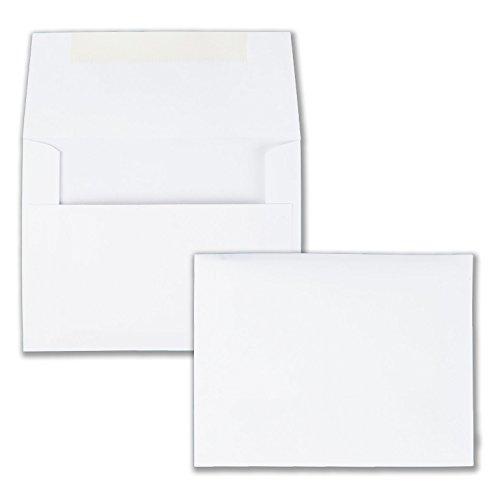 Quality Park Invitation Envelopes 55 White 4375 x 575 inchesBox of 100 36217