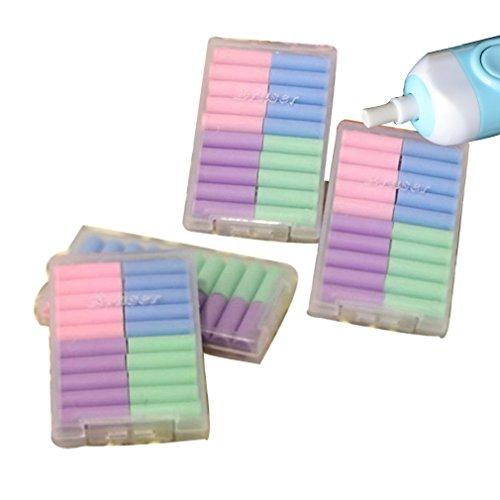 KEWAYO Electric Eraser Refill 60Pk Colorful