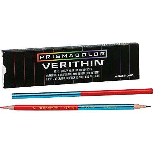 Prismacolor Verithin Colored Pencil RedBlue 12 Count