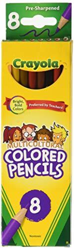 Crayola 68-4208 Multicultural Colored Pencils 8Pkg Long