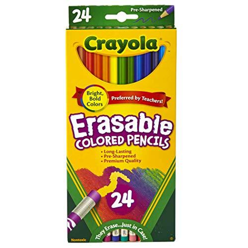 Crayola Erasable Colored Pencils 24 Count