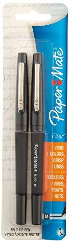 Paper Mate Flair Felt Tip Pens Medium Point 12-Count Black