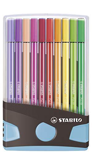 Premium Felt Tip Pen - STABILO Pen 68 Colorparade 20 Assorted Colours
