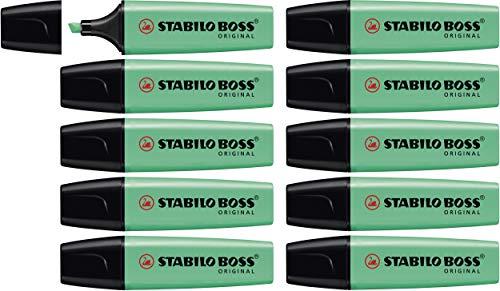 STABILO Boss Original Highlighter Pen Chisel Tip 2-5mm Line - Turquoise Pack of 10