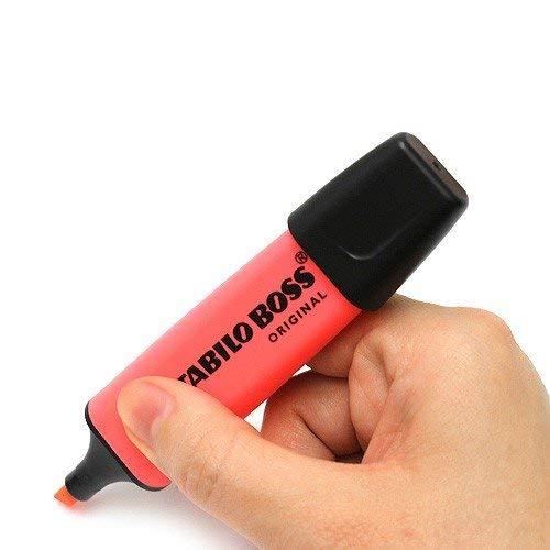 STABILO Boss Original Highlighter Pens Chisel Tip 2-5mm Line Red Pack of 1
