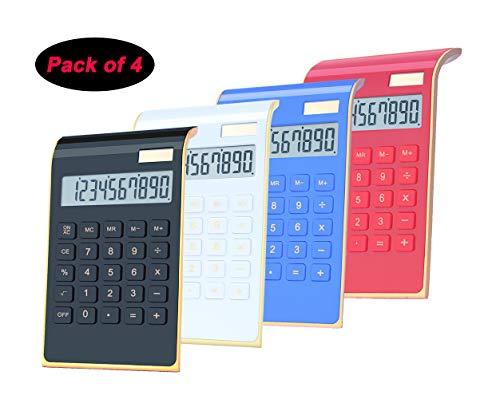 Office CalculatorBESTWYA 10-Digit Dual Power Business Handheld Desktop Calculator for Office Student Black WhiteRed Blue