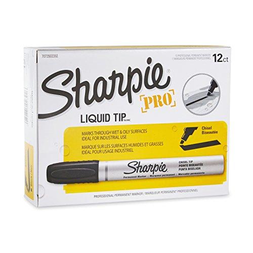 Sharpie 7073502392 Sharpie Chisel Tip Permanent Marker Black 12-Pack