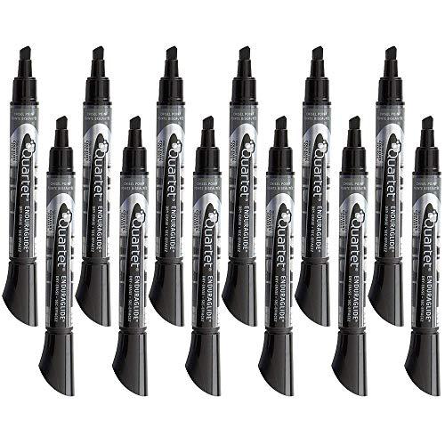 Quartet Dry Erase Markers Whiteboard Markers Chisel Tip EnduraGlide BOLD COLOR Black 12 Pack 5001-2M