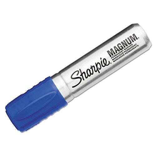 Blue Sharpie Magnum Markers