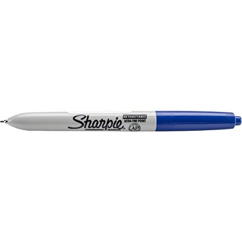 Sharpie Marker Permanent Retractable Ultra Fine Blue 1735797