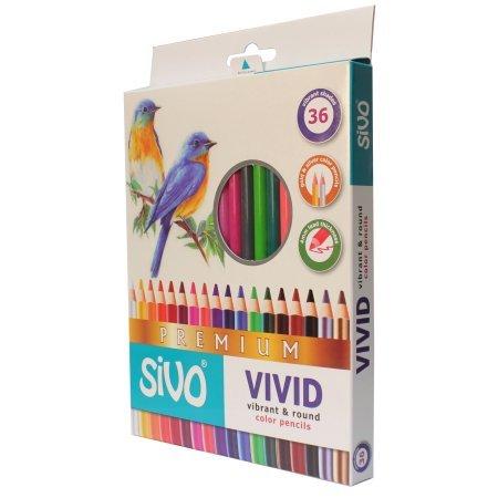 2 Pack SiVO Vivid Color Pencils Box Set of 36 72 Total Pencils