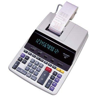 Sharp EL-2630PIII 12 Digit Commercial Printing Calculator 2-Color Ribbon Printer White