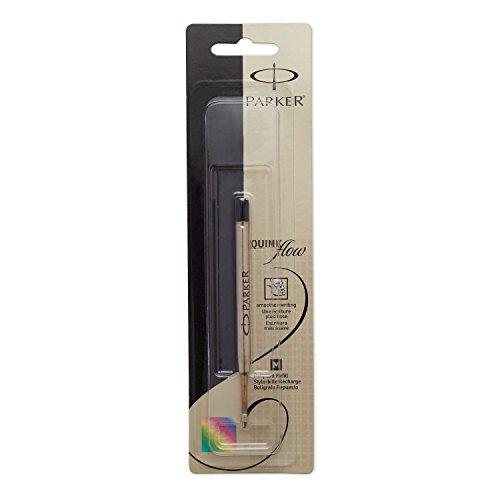 PARKER QUINKflow Ballpoint Pen Ink Refill Medium Tip Black 1 Count