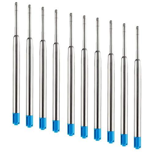 10pcs Black Blue Ballpoint Pen Ink Refills Fine Point Medium Common for Parker Style Blue