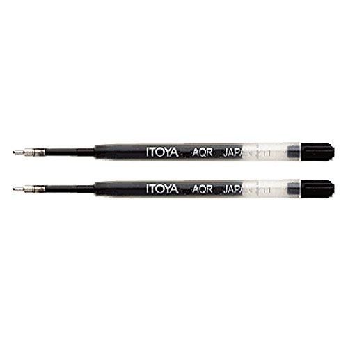 Itoya AQR-10BP-BK Aquaroller Pen Ink Refill 2-Pack Black