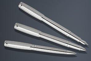 ST Dupont Elysee Goldsmith Palladium Lines Medium Point Fountain Pen - 410600M